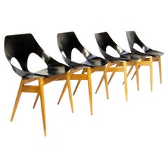 """Four 1960s """"Jason"""" Chairs by Carl Jacobs for Kandya"""