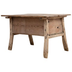 Early 18th Century Swedish Folk Art 'Hedna Table'