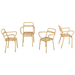 French Metal Outdoor Stacking Chairs