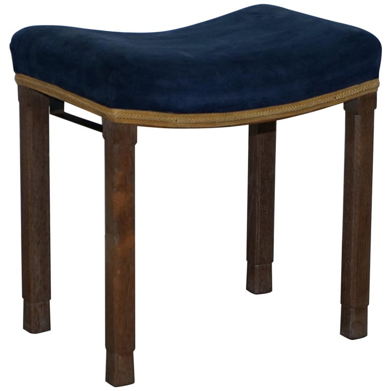 Rare Original King George vi Coronation Stool 1937 Limed Oak by Waring & Gillow For Sale
