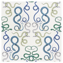 Schumacher Charlap Hyman Herrero Giove Wallpaper in Emerald and Sapphire
