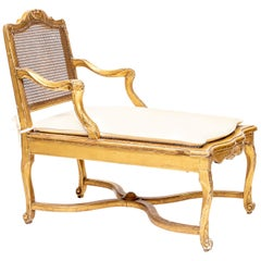 Louis XV Style Small Chaise Lounge