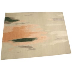 Etheral, Handknotted Area Rug with New Zealand Wool and Silk by Thirty Six Knots