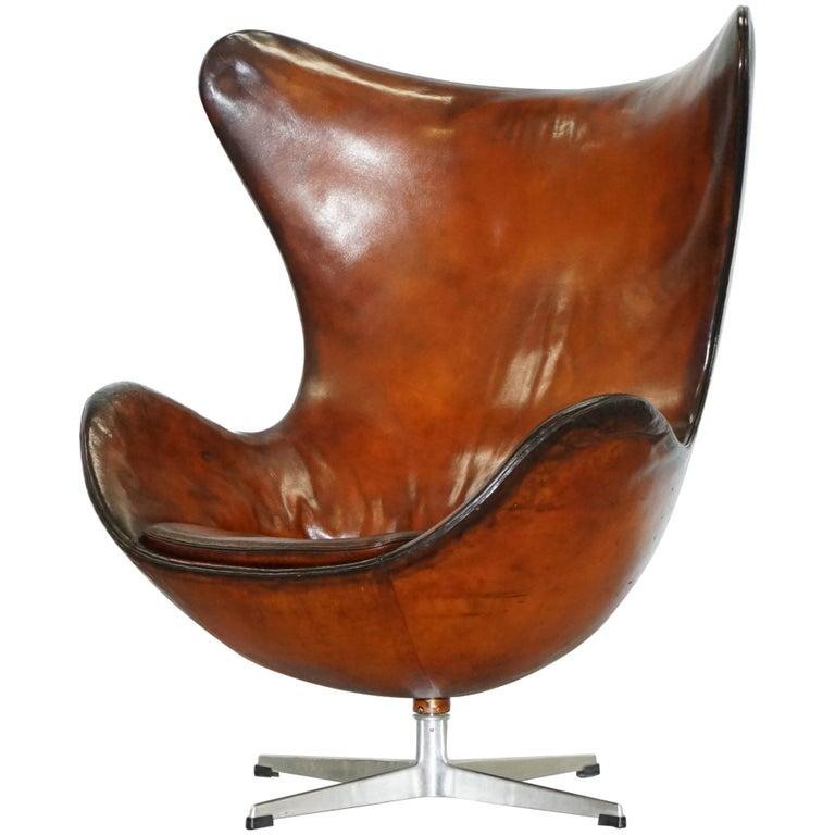 Original 1963 Fritz Hansen Egg Chair Model Number 3316
