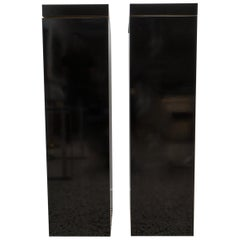 Pair of Black Pedestals with Rotating Tops