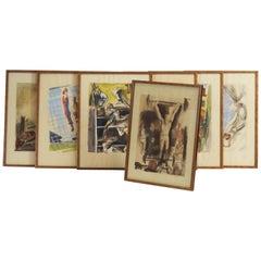 """""""Les joies du sport"""" Seven Prints by Milivoj Uzelac"""