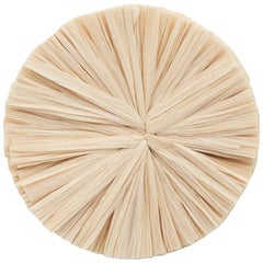 Schumacher Caicos Small Raffia Wall Decoration in Natural, Ten Piece Set