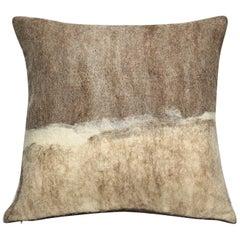 JG Switzer Artisan Wool Moorit Brown Pillow
