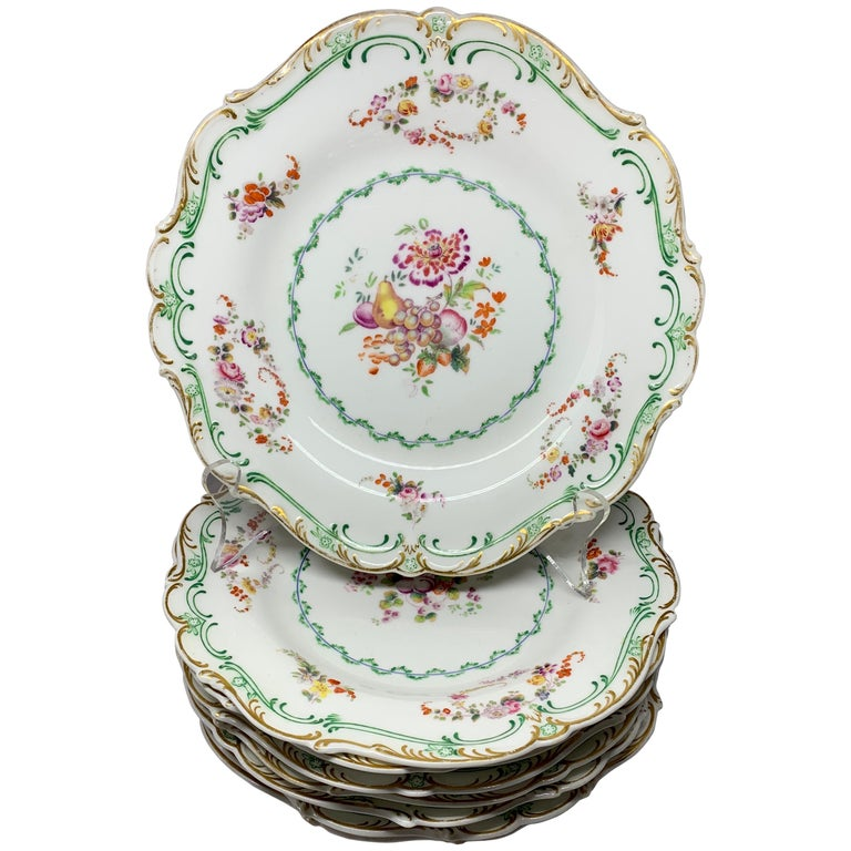 Set of Eight English Plates For Sale