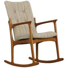 Midcentury Danish Rocking Chair in Teak by Vamdrup
