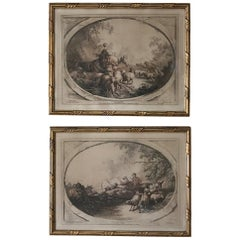 Pair 19th Century Framed Engravings