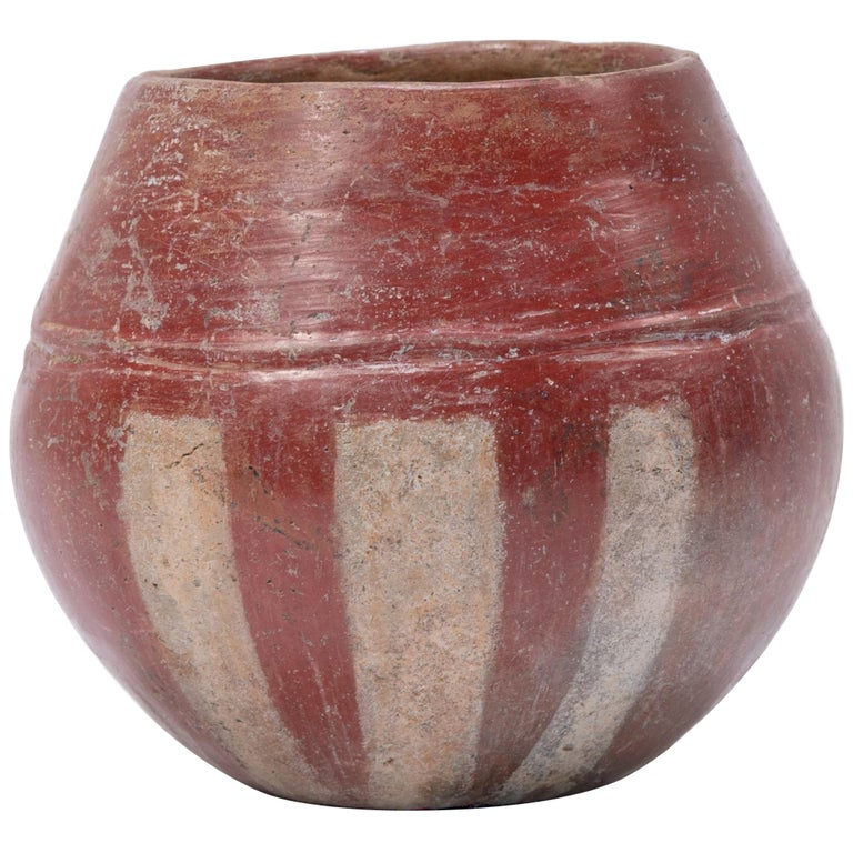 Petite Pre-Columbian Striped Chupícuaro Vessel For Sale