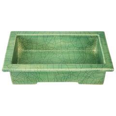 Japanese Craquelure Glazed Ceramic Jardiniere