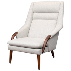 Scandinavian Modern High Back Lounge Chair