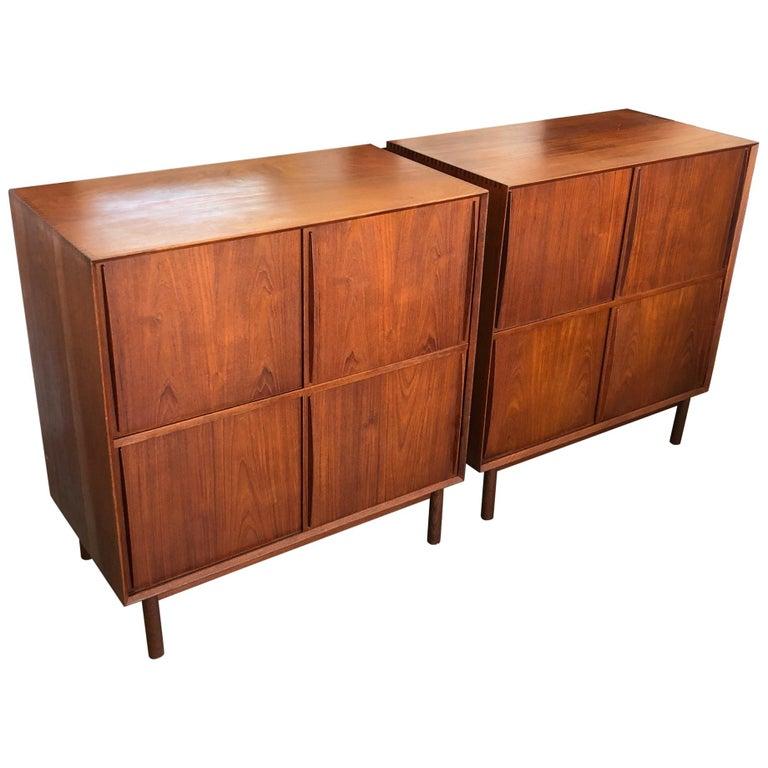 Pair of Cabinets by Hvidt & Mølgaard in Teak For Sale