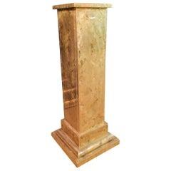 Art Deco Pillar/Column  Wood Covered with Brass