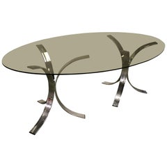 Vintage Chrome Dining Table, 1970s