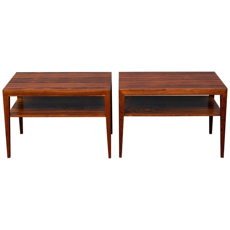 Scandinavian Side Tables or Nightstands by Severin Hansen For Sale