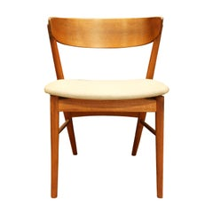 Handcrafted Teak Danish Desk Chair, 1950s Signed