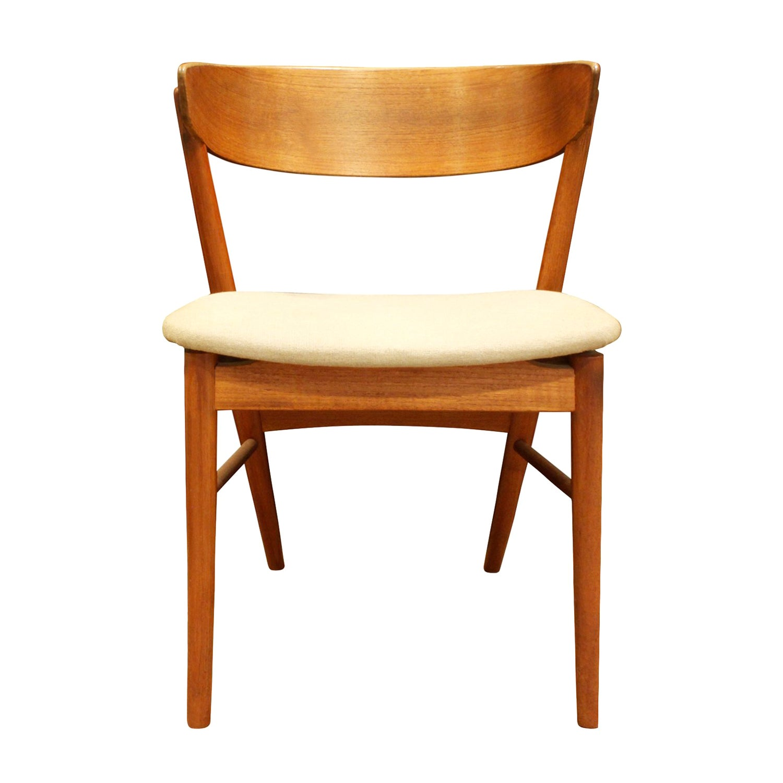 Handcrafted Teak Danish Desk Chair, 1950s Signed