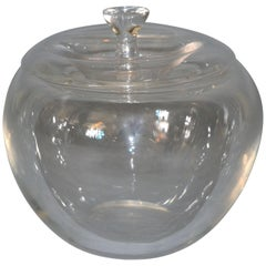 Vintage Crystal Clear Art Glass Apple by Elsa Peretti for Tiffany & Co.