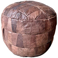 De Sede Brown Leather Patchwork Ottoman