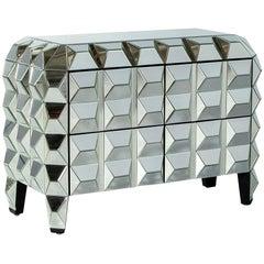 Modern Mirrored Cubism Dresser