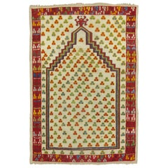 Antique Turkish Ghiordes Prayer Rug