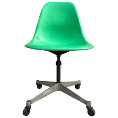 Rare Kelly Green Herman Miller Eames Fiberglass PSCC Desk Chair