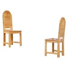 Set of 6 Swedish Pine Chairs, 1970s