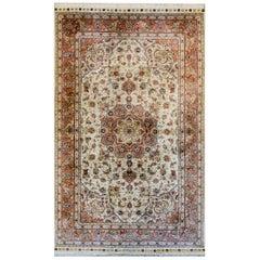 Incredible Vintage Egyptian Silk Tabriz-Style Rug