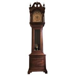 Mahogany Grandfather Clock Retailed by Tiffany & Co. Moon Phase, circa 1900-1910