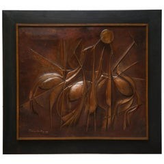 Copper Panel Artwork by Pemba