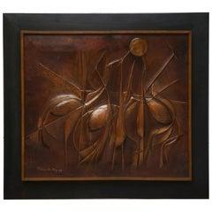 Copper Panel Artwork by Pemba