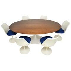 Eero Saarinen Tulip Dining Table and 6 Chairs, Knoll, 1960