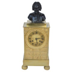 Charles X Gilt Bronze Mantel Clock