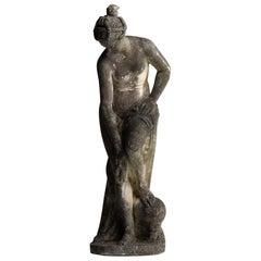 Statue of a Bathing Woman, England, circa 1950