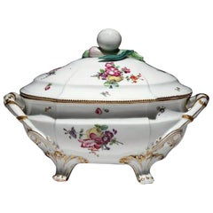 French Porcelain Soup Tureen and Cover, Jacques Vermonet & Fils, Boissettes.