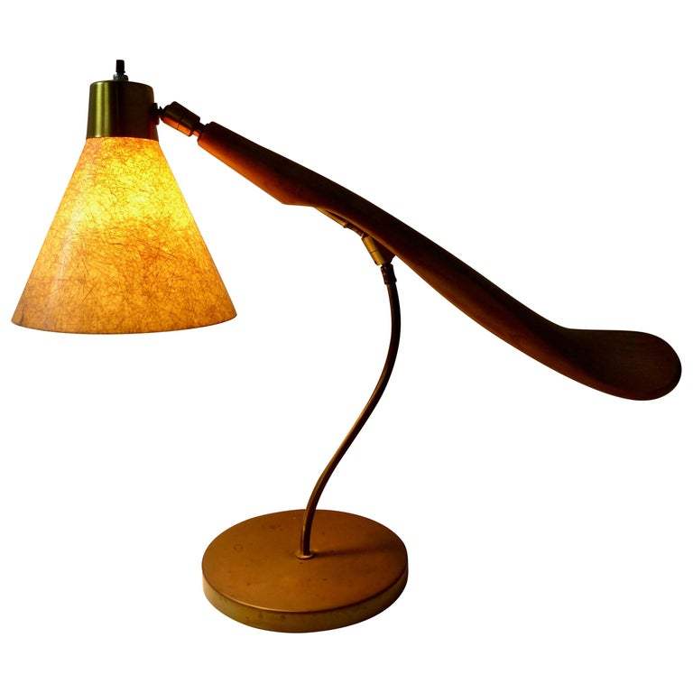 Mid-Century Modern Sculptural Table Lamp by Heifetz NYC For Sale