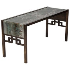 "Philip and Kelvin Laverne ""Festival"" Console Table"