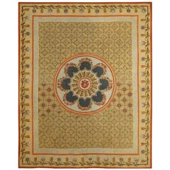 Handwoven Antique Aubusson Rug, circa 1795, Directoire