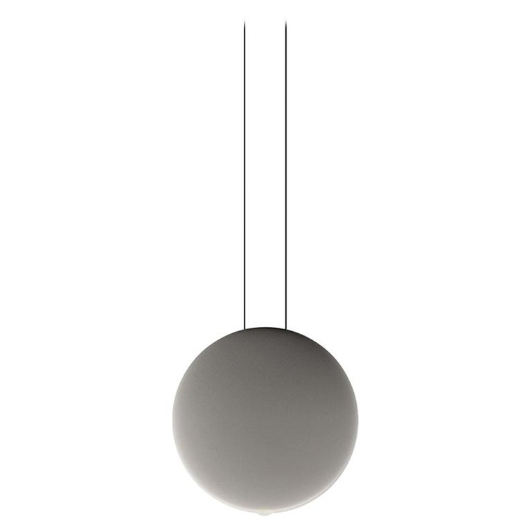 Cosmos Large LED Pendant Light in Grey by Lievore, Altherr & Molina For Sale