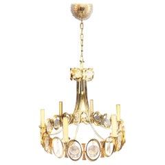 Vintage Palwa 22-Karat Gold-Plated Modern Crystal Orb Chandelier, 1960s, Germany
