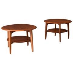Pair of Danish Teak Side Tables by Svend Madsen