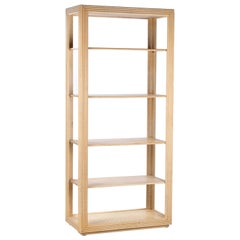 1970s Harrods of London Bamboo Five Shelf Bookcase
