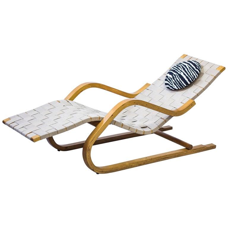 """""""Model 39"""" Chaise Lounge by Alvar Aalto for Artek, 1945-1956 For Sale"""