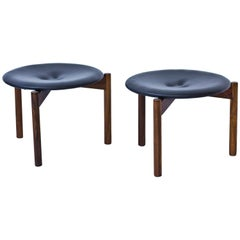 Stools by Uno and Osten Kristiansson for Luxus, Sweden, 1950s