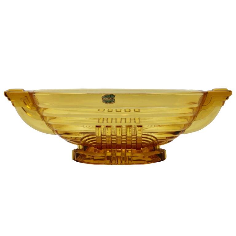 Art Deco Val Saint Lambert, Luxval, Signed Model Marcelle, Charles Graffart For Sale