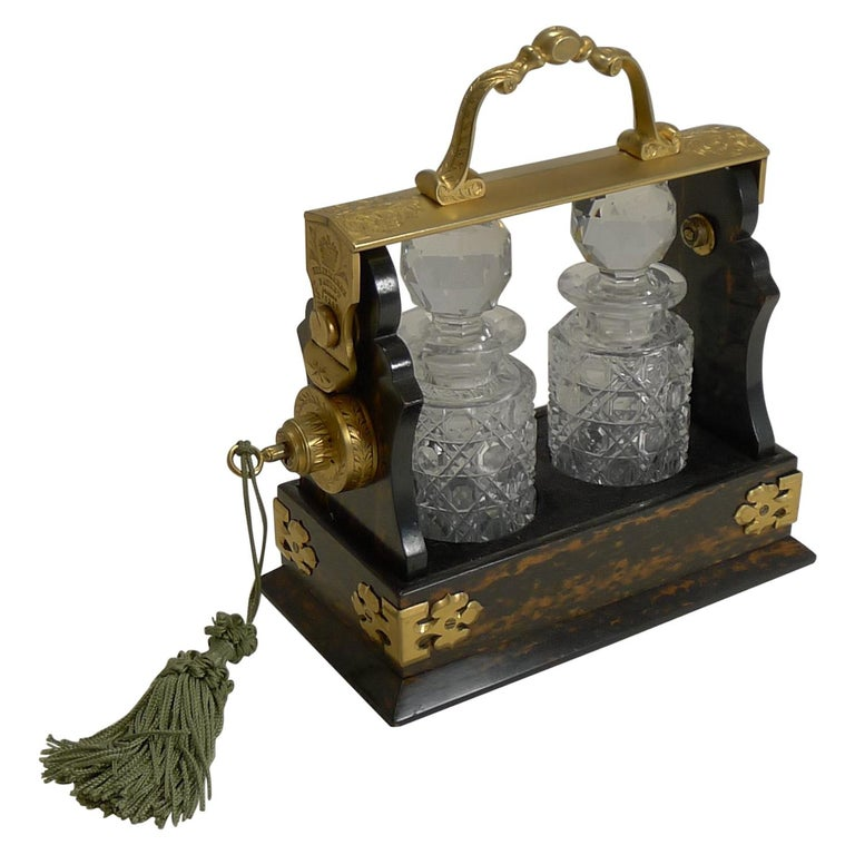 Miniature Stagecoach Tantalus by Betjemman's, London, circa 1890 For Sale