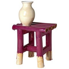 Vase on Table in Magenta and Beige Ceramic by Milan Pekar